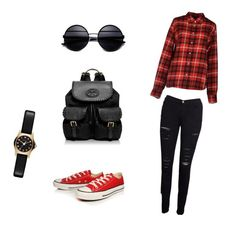 """5."" by amina-haskic ❤ liked on Polyvore featuring Aspesi, Frame Denim, Converse, Tory Burch and Marc by Marc Jacobs"