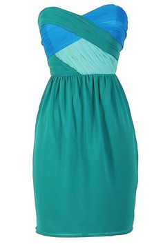 color teal dress that would look great for prom! #promnyc #prom2013 #promdress