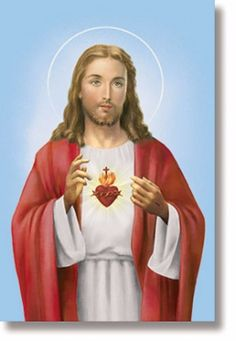 Sacred Heart Of Jesus Canvas Church Banner. Catholic Sacred of Jesus Church banner has been has a protective coating that resists fading so your banners last longer. The back vent allows easy use with