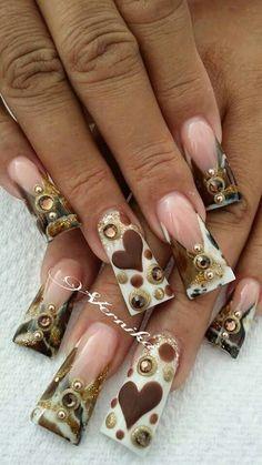 Diamond Nail Designs, Long Nail Designs, Blue Nail Designs, Diamond Nails, Toe Designs, Duck Flare Nails, Duck Nails, Sassy Nails, Trendy Nails
