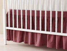 Coyuchi Dusty Rose Crib Skirt <3
