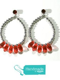 earrings with Swarovski crystal coral drops from il Sole https://www.amazon.co.uk/dp/B01N2ND8H3/ref=hnd_sw_r_pi_dp_VmgpybF74V6J3 #handmadeatamazon