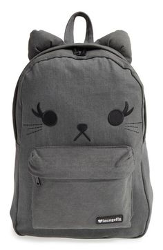 Buy Loungefly Black Denim Cat Backpack online and save! Loungefly Black Denim Cat Backpack This adorable Loungefly Black Denim Cat Backpack is the Purrfect gift for the cat lover in your life Officially L. Denim Backpack, Cat Backpack, Backpack For Teens, Mochila Jansport, Back Bag, Cool Backpacks, Backpacks For Girls, Cute Bags, School Bags