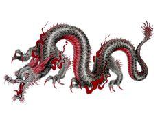 Japanese / Chinese Dragon tattoo design.
