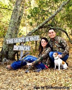 Save The Date Wedding Sign THE HUNT is OVER Engagement Photo Prop Rustic Wedding Photos Country Wedding Prop For the Eco Bride Hunting on Etsy, $60.00