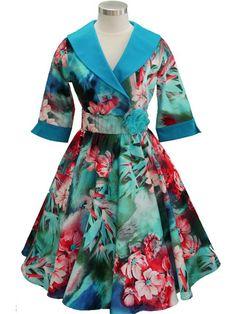 Ava Dress - Turquoise/Raspberry Contrast – Mavis and Bob