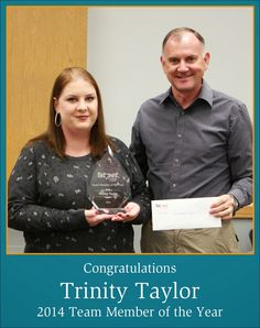 1st Pet Veterinary Centers Blog Trinity Tylor Congrats for being 2014 Team Member of the Year