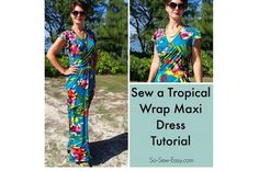 Craft Gossip - http://sewing.craftgossip.com/free-pattern-tropical-wrap-maxi-dress/2015/06/01/