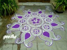 Small Rangoli Design, Rangoli Designs Diwali, Rangoli Designs With Dots, Diwali Rangoli, Beautiful Rangoli Designs, Kolam Designs, Simple Rangoli, Mandala Design, Welcome Home Decorations