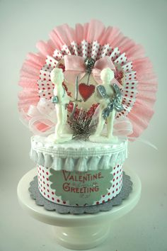 sugar valentine box white
