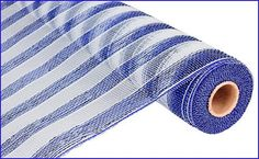 Royal Blue White Striped Deco Poly Mesh Roll 21 by wreathsbyrobin See more at: https://www.etsy.com/shop/wreathsbyrobin