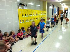 Back to school must practice procedures - practice hallway behavior with an audience!
