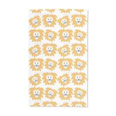 Uneekee Lion Heads Hand Towel, Blue