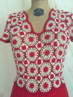 Rare Vintage 1930s Gown / 30s Dress / Crocheted by WhynaughtShop