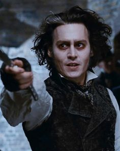 Johnny Depp as Sweeney Todd/Benjamin Barker in Sweeney Todd: The Demon Barber of Fleet Street Sweeney Todd, The Sweeney, Johnny Depp Characters, Johnny Depp Movies, Fleet Street, High School Musical, Disney Channel, Step Up, Mrs Lovett