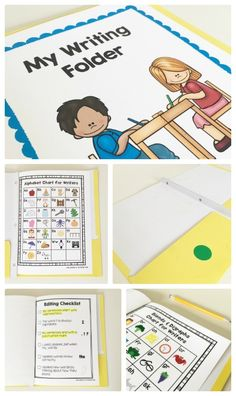 FREE Writing Folder Tools - Everything About Kindergarten Kindergarten Writing, Kids Writing, Teaching Writing, Writing Activities, Writing Ideas, Kindergarten Writers Workshop, Lucy Calkins Kindergarten, Work On Writing, Creative Writing