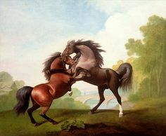 George Stubbs, Fighting Stallions, 1791