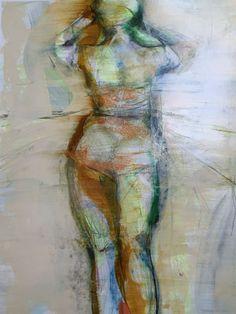 "Katheryn Holt | by SJICA Havana Beach Wear, 2, 2014 Mixed media on paper 22 x 27"" framed Retail Price: $950 Courtesy of the Artist"