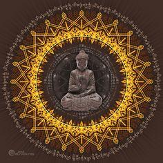 Buddhist meditation spiritual painting