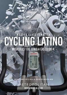 ¿Te apuntas a una Master Class de Cycling Latino en Metropolitan Sagrada Familia? Te esperamos este  miércoles, 1 de junio a las 20:00 h.  Se realizará en el horario habitual de la clase.  Inscripciones en el área de socios de nuestra web.