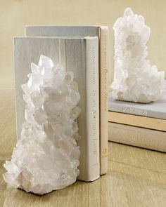 Shop Quartz Bookends at Horchow, where you'll find new lower shipping on hundreds of home furnishings and gifts. Crystals And Gemstones, Stones And Crystals, Healing Crystals, Gem Stones, Crystals Minerals, Black Crystals, Decorative Accessories, Home Accessories, Br House