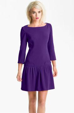 Eliza J Seam Detail Drop Waist Dress | Nordstrom  Wear to work or wedding? My new favorite dress.