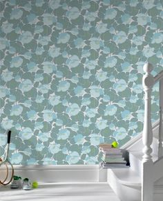Amy Butler for Graham & Brown - Field Poppies - ocean color way