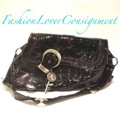 Fashion Lover Consignment - Christian Dior Burgundy Patent Croc Embossed Gaucho Satchel, $450.00 (http://www.fashionloverconsignment.com/christian-dior-burgundy-patent-croc-embossed-gaucho-satchel/)