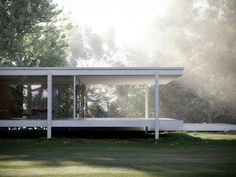 Farnsworth House - Mies van der Rohe - Visualisation by Peter Guthrie