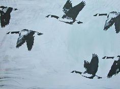 """Saatchi Art Artist Gabrielle Becker; Painting, """"Flying Over Us"""" #art"""