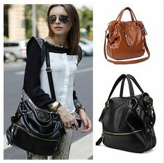 Lady Korean Hobo Tassel Cross Body Shoulder Bag Large Capacity Leather handbags