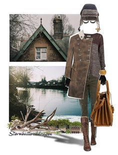 """""""Shy Girl Walking Winter's Sad Cold Shores"""" by stormbattereddragon ❤ liked on Polyvore featuring CARGO, ROC Boots, RVCA, Boohoo, Timberland, Alkemie, Balmain, Black & Sigi, Yves Saint Laurent and Philip Kingsley"""