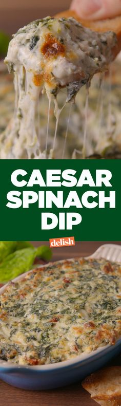 Caesar dip is the new salad. Great Appetizers, Appetizer Dips, Appetizer Recipes, Snack Recipes, Cooking Recipes, Salad Recipes, Party Food And Drinks, Party Dips, Game Day Food