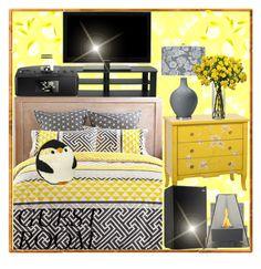 """Abbey Australian Bedroom set tv44 inch mini fridge sony fm radio penguin soft pillow dresser lamp flowers"" by romalegotskills ❤ liked on Polyvore featuring interior, interiors, interior design, home, home decor, interior decorating, bedroom and guestroomdecor"