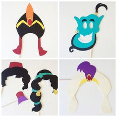Aladdin Photo Booth Props Disney Princess by LetsGetDecorative