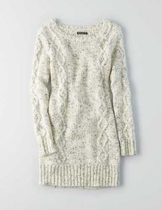 AEO Cable Tunic Sweater Dress