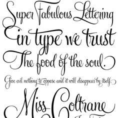 Tattoo fonts. I like the smaller font!