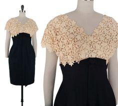 Ariadne Silk Dress / 1950s Vintage Dress / by NovaVintage on Etsy