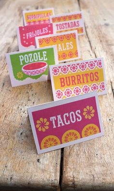 Free Mexican Food signs for your next fiesta party, uuuhhhh this would work for my Mexican party. Mexican Birthday Parties, Mexican Fiesta Party, Fiesta Theme Party, Taco Party, Mexico Party Theme, Mexican Food For Party, Mexican Party Favors, Fiesta Games, Mexican Theme Baby Shower