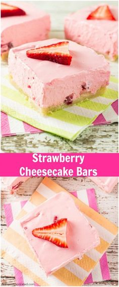 Easy Strawberry Cheesecake Bars | Deliciously Sprinkled
