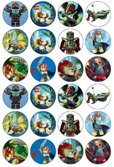 24-x-Lego-Chima-Edible-Wafer-Rice-Paper-Cup-Cake-Bun-Toppers
