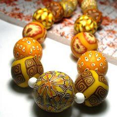 Polymer clay beads | Pavla Cepelikova | Flickr