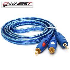 Ownest cable de audio de 3.5mm jack macho a 2 rca cable av cable 1.5 m 3 m 5 m Para la Computadora de La Cámara Dvd Edifer Amplificador de Sonido de Cine En Casa