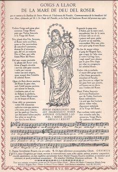 Mare de Deu del Roser, Goig a Llaor de.  Firmado y numerado por R. Vives Sabater.