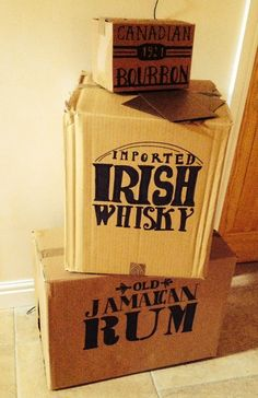 1920s Gatsby Themed 50th Birthday Decorations; Handmade Prohibition Era Boxes x