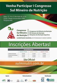 Folha do Sul - Blog do Paulão no ar desde 15/4/2012: VARGINHA: CONGRESSO DE NUTRIÇÃO