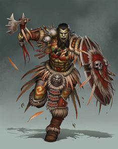 Tribal Orc by PRDart.deviantart.com on @deviantART