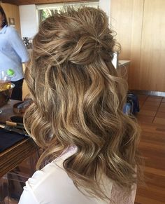 Half up half down braided updo by @katerinagracehair - https://www.instagram.com/katerinagracehair/