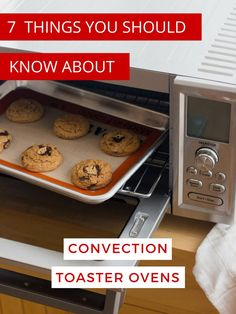 7 Things You Should Know About Convection Toaster Ovens. Learn the secret to better tasting cookies and how to keep from baking the driest cake ever. via Toaster Oven Love Toaster Oven Cooking, Convection Oven Cooking, Toaster Oven Recipes, Countertop Convection Oven, Toaster Ovens, Cooking Ham, Cooking Steak, Cooking Tips, Oven Racks