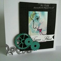 Ladies Profile and cogs from Bee Crafty  #ladiesprofile #beecraftystamps #dtsample #cogs #stamps #stamping #creative #craft